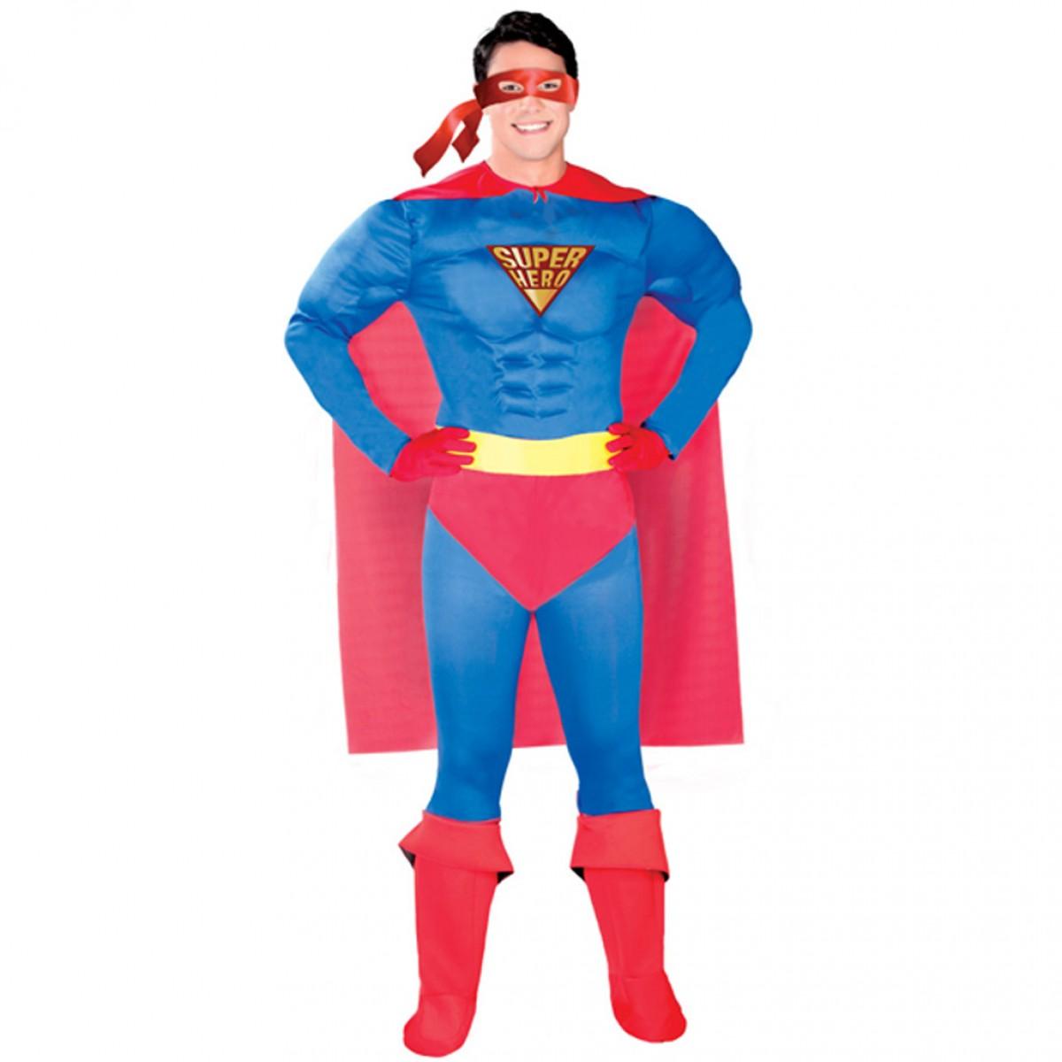 super hero bleu