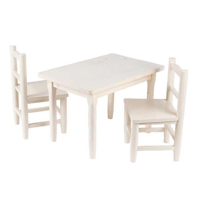 table chaise bois enfant