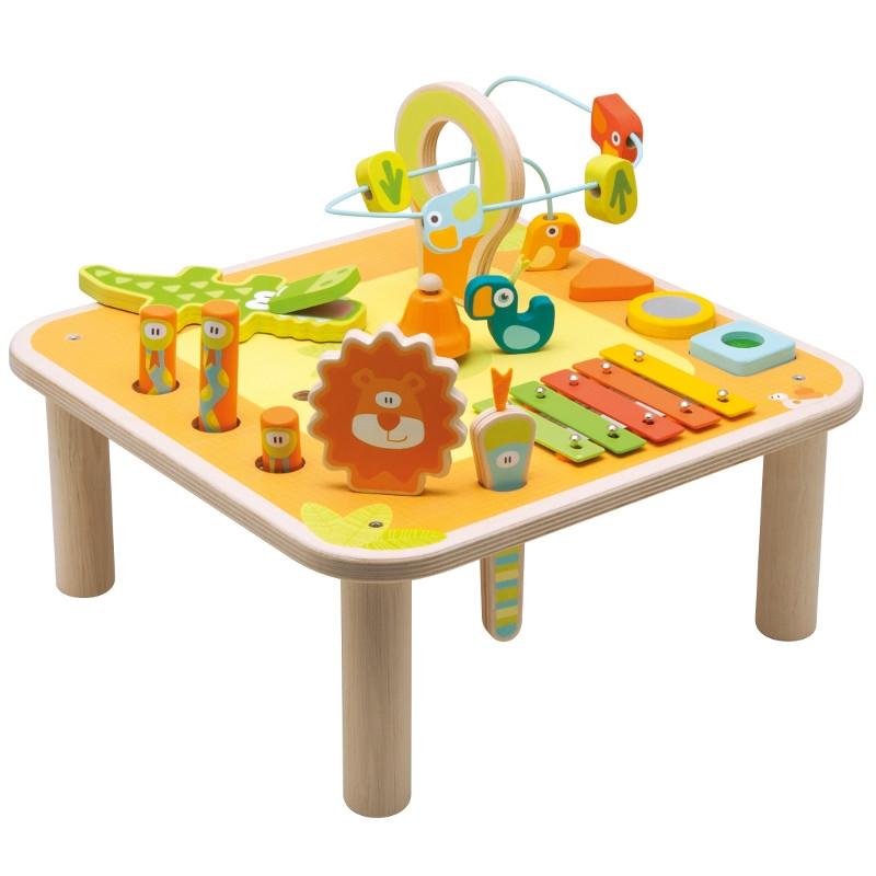 table d activité en bois