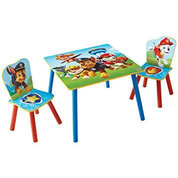 table et chaise pat patrouille