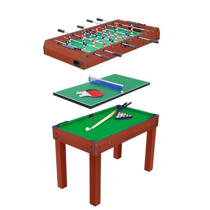 table multi jeux billard baby foot