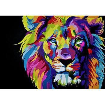 tableau animaux coloré