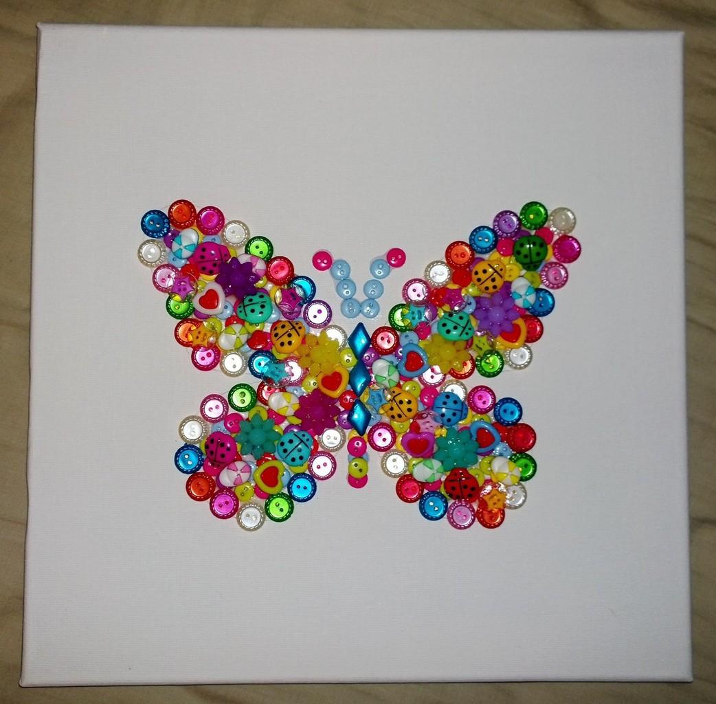 tableau avec papillon