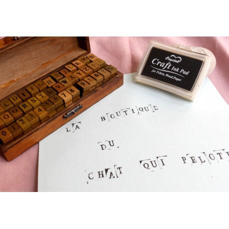 tampon lettre alphabet
