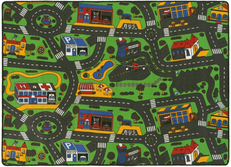 tapis ville voiture