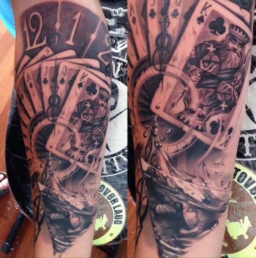 tatouage carte de jeux
