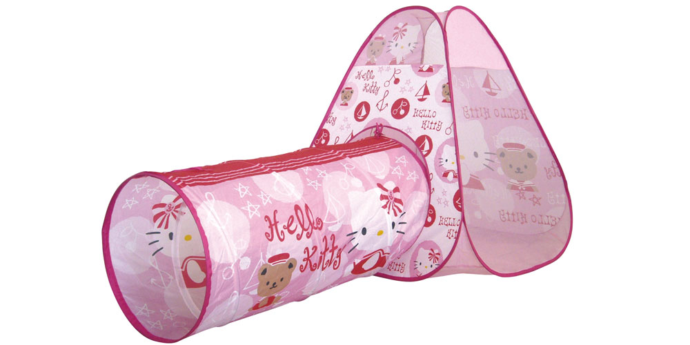 tente hello kitty avec tunnel