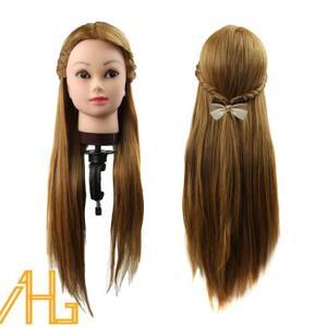 tete a coiffer vrai cheveux