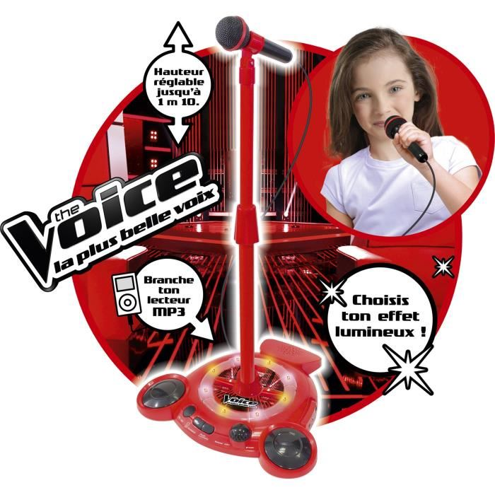 the voice micro sur pied