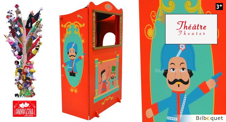 theatre de marionnettes en bois