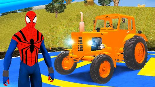 tracteur spiderman