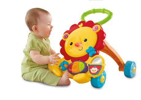 trotteur lion fisher price