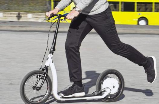 trottinette grande roue gonflable