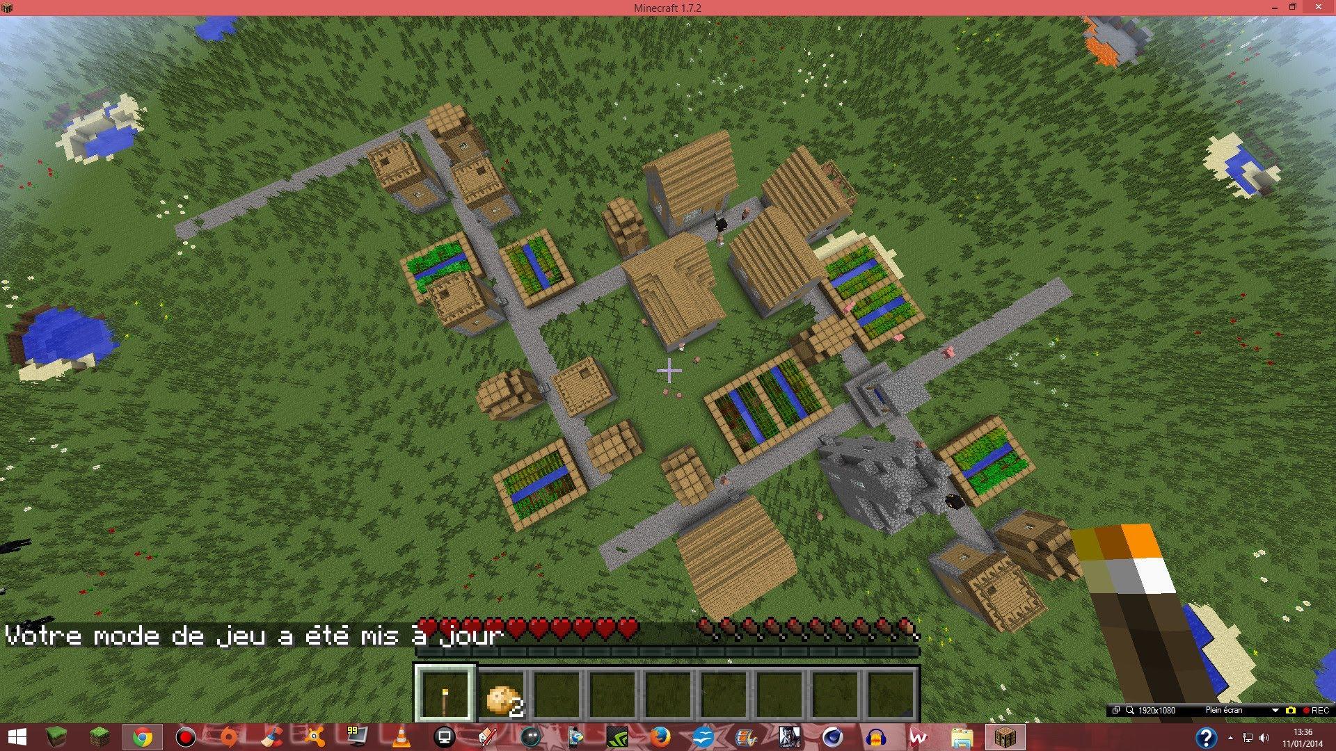 trouver village minecraft