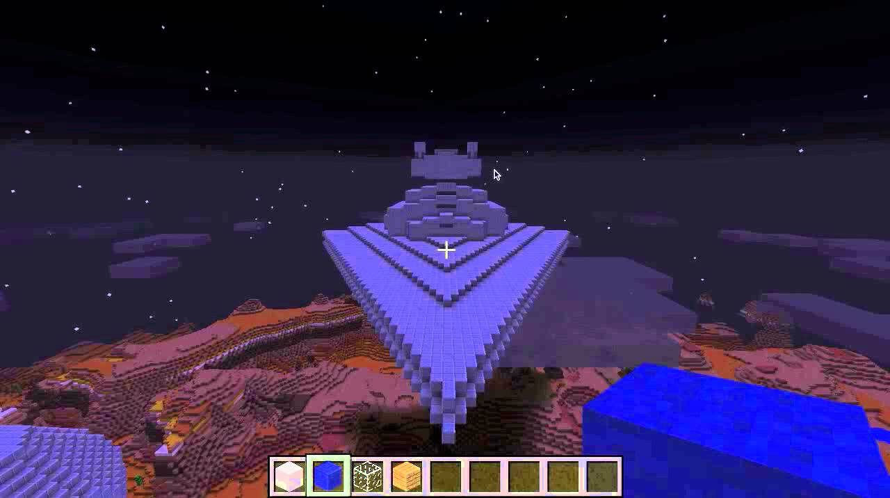 vaisseau star wars minecraft