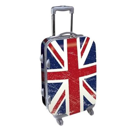 valise avec drapeau anglais