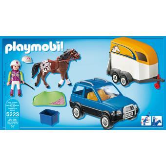 voiture avec remorque et cheval playmobil