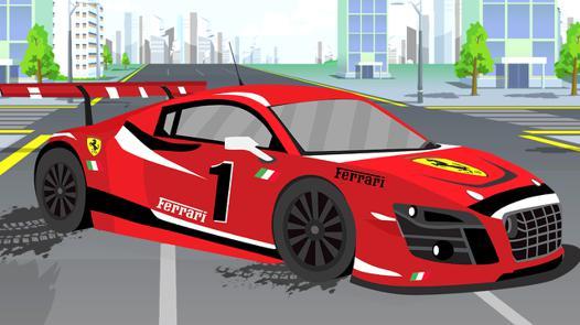 voiture de course rouge