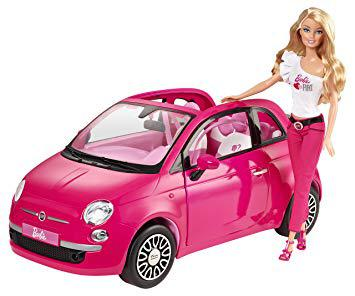 voiture rose barbie