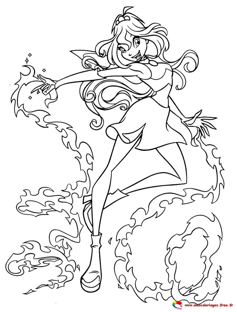 winx club coloriage